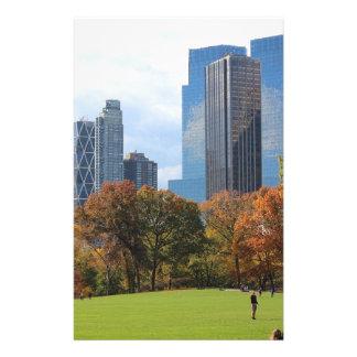 Horizonte franco visto panorama de New York City Papelería Personalizada