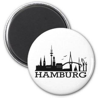 Horizonte Hamburgo Imanes De Nevera