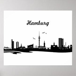 Horizonte Hamburgo Póster