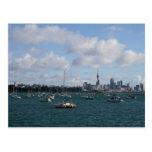 Horizonte hermoso de Auckland Tarjetas Postales