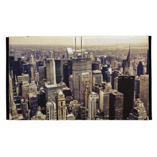 Horizonte hermoso de los rascacielos de New York C