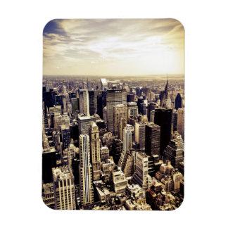Horizonte hermoso de los rascacielos de New York C Imán De Vinilo