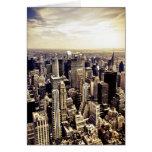 Horizonte hermoso de los rascacielos de New York C Tarjetón