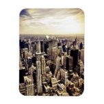 Horizonte hermoso de los rascacielos de New York Imán De Vinilo