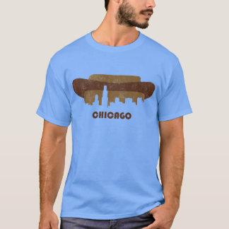 Horizonte-Hombres retros de Chicago Playera