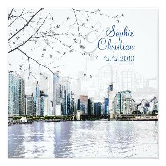 Horizonte/invitaciones de PixDezines Chicago a Invitación 13,3 Cm X 13,3cm
