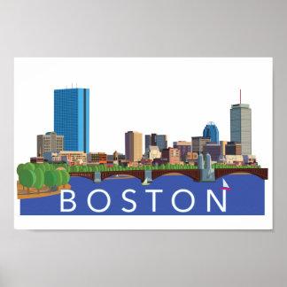 Horizonte juguetón y único de Boston del ejemplo Póster