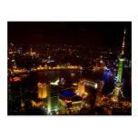 Horizonte maravilloso de Shangai China con moderno Postal