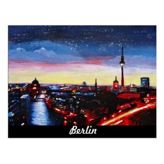 Horizonte melancólico de Berlín Alemania con las Tarjeta Postal