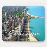 Horizonte Mousepad de Chicago Alfombrillas De Ratón