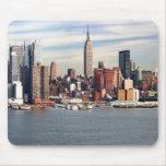 Horizonte Mousepad de New York City Tapetes De Ratón