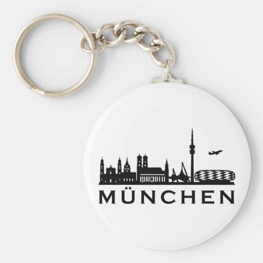 Horizonte Munich Llavero Redondo Tipo Pin