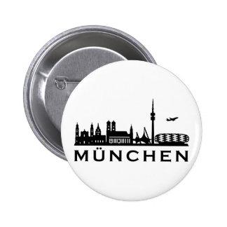 Horizonte Munich Pin Redondo De 2 Pulgadas