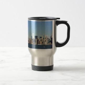 Horizonte New York City de Manhattan Taza De Viaje De Acero Inoxidable