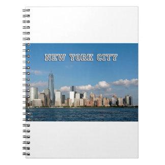 Horizonte New York City los E.E.U.U. de Manhattan Libro De Apuntes