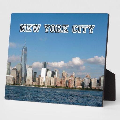Horizonte New York City los E.E.U.U. de Manhattan Placas Para Mostrar