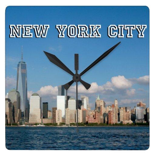 Horizonte New York City los E.E.U.U. de Manhattan Relojes De Pared