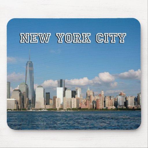Horizonte New York City los E.E.U.U. de Manhattan Tapetes De Raton