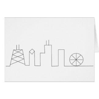 Horizonte Notecard de Chicago Tarjeta De Felicitación