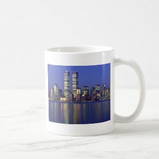Horizonte Nueva York con World Trade Center Tazas De Café