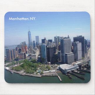 Horizonte Nueva York de Manhattan Alfombrillas De Ratón