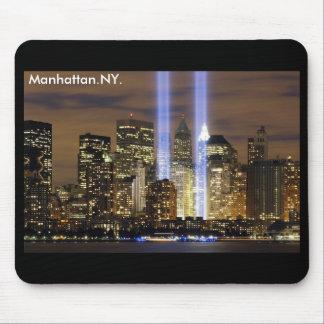 Horizonte Nueva York de Manhattan Alfombrillas De Raton