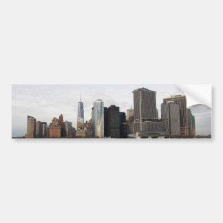 Horizonte Nueva York de Manhattan Pegatina De Parachoque