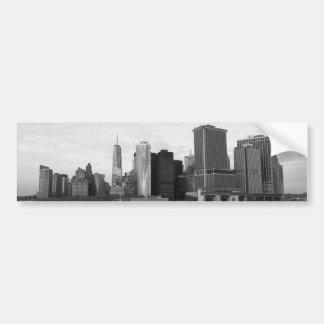 Horizonte Nueva York de Manhattan Etiqueta De Parachoque