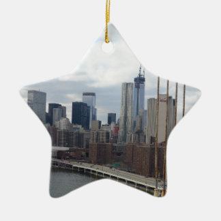 Horizonte Nueva York de Manhattan Ornamento De Reyes Magos