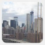 Horizonte Nueva York de Manhattan Pegatinas Cuadradases