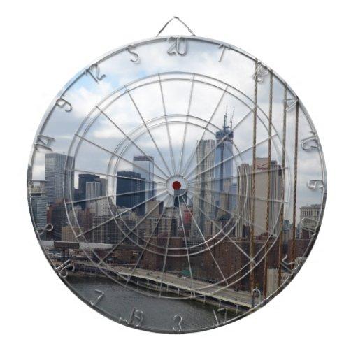 Horizonte Nueva York de Manhattan Tabla Dardos