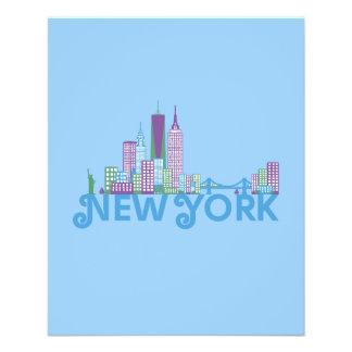 Horizonte Nueva York Tarjetón