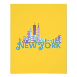 Horizonte Nueva York Flyer Personalizado