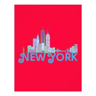 Horizonte Nueva York Flyer A Todo Color
