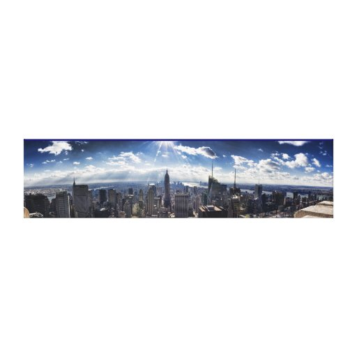 Horizonte Panarama de la ciudad de NY Impresion De Lienzo