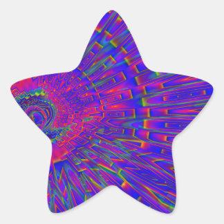 Horizonte Pegatina Forma De Estrella Personalizadas
