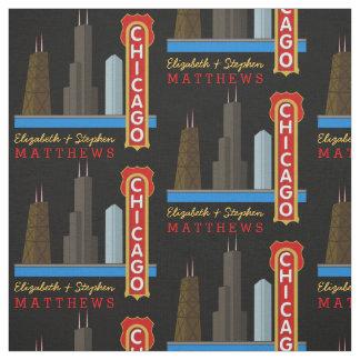 Horizonte personalizado de Chicago Illinois de los Telas