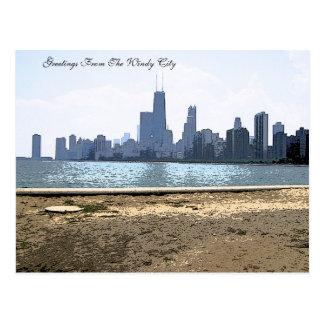 Horizonte pintado de Chicago Tarjeta Postal