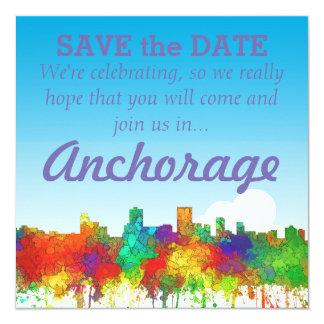 "Horizonte-SG de Anchorage Alaska Invitación 5.25"" X 5.25"""