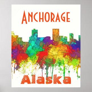 Horizonte-SG de Anchorage Alaska Póster