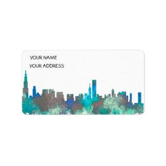 Horizonte-SG-Selva de Chicago Illinois Etiquetas De Dirección