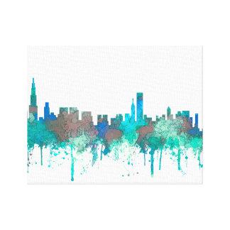 Horizonte-SG-Selva de Chicago Illinois Impresión En Lienzo