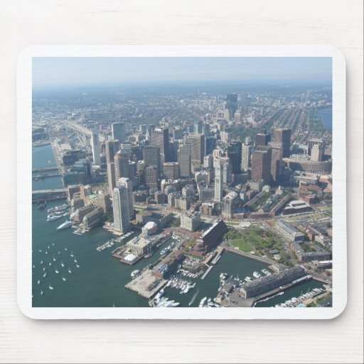 Horizonte total de Boston Tapetes De Ratón