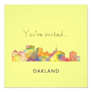 """HORIZONTE WB1 DE OAKLAND, CALIFORNIA - INVITACIÓN 5.25"""" X 5.25"""""""