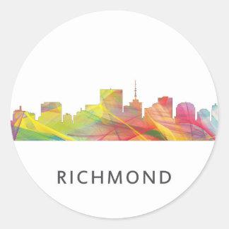HORIZONTE WB1 DE RICHMOND VIRGINIA - PEGATINA REDONDA