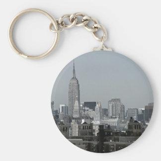 Horizonte y Brooklyn de Nueva York Llavero Redondo Tipo Pin