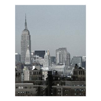 Horizonte y Brooklyn de Nueva York Membrete Personalizado