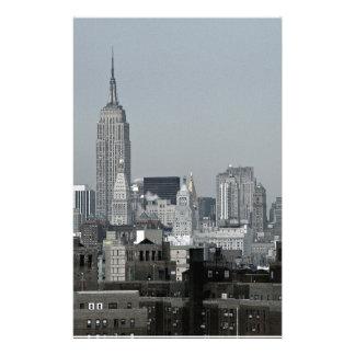 Horizonte y Brooklyn de Nueva York Papeleria De Diseño