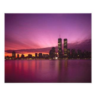 Horizonte y el río Hudson, Nueva York, 2 de Manhat Fotografia