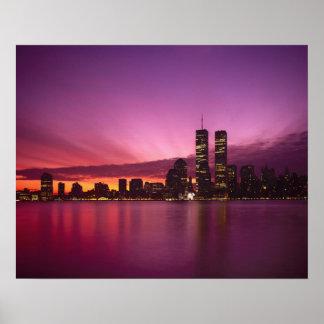 Horizonte y el río Hudson, Nueva York de Manhattan Impresiones